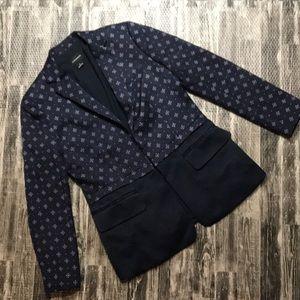 Beautiful silk navy blazer suit top jacket